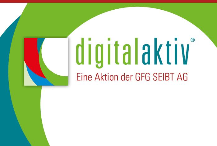 digitalaktiv ist eine Aktion der GFG SEIBT AG. Es geht um Büro-Automatisierung. Das Corporate Design stammt von scarabaeus michael helminger.