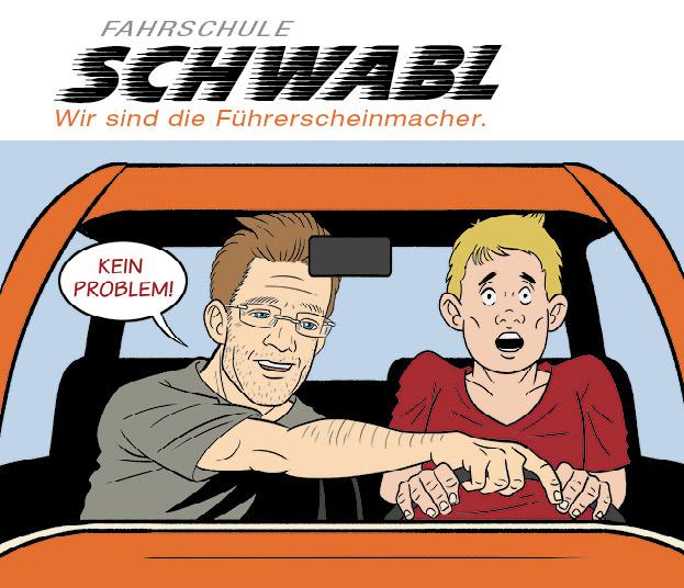 Werbekonzeption für Fahrschule Schwabl in Bad Reichenhall. scarabaeus michael helminger arbeitet in drei Workshopsitzungen die wesentlichen Postionierungsmerkmale heraus.
